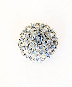 Broche topacio azul