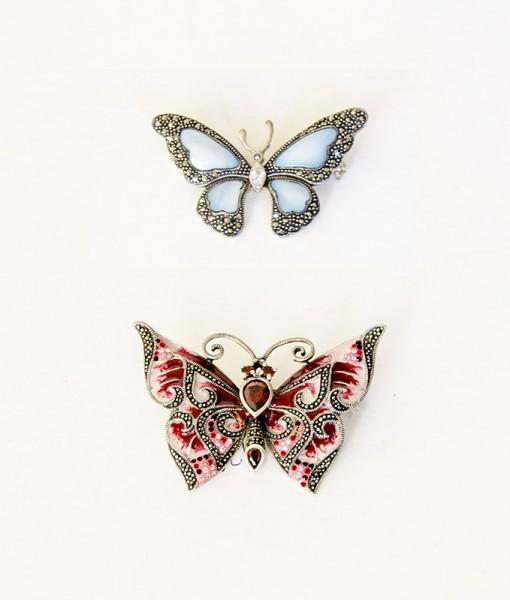 Broches de Mariposas - Esmalte