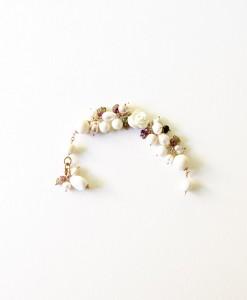 Pulsera turmalinas y perlas